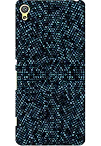 AMEZ designer printed 3d premium high quality back case cover for Sony Xperia XA (Dots Math Pattern)