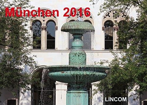 München 2016 (Wandkalender 2016 DIN A2 quer): LINCOM City Kalender München 2016 - LINCOM City Calendar Munich 2016
