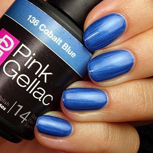 Smalto semipermanente Pink Gellac - 136 Cobalt Blue 15 ml LED UV GEL Blu (Cobalt Blue Led)