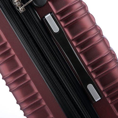 Zwillingsrollen 2088 Reisekoffer Koffer Trolleys Hartschale in XL-L-M in 14 Farben Weinrot