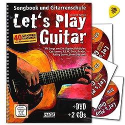 Let's Play Guitar Band 1 mit 2 CDs, DVD und Dunlop Plek - Songbook und Gitarrenschule : Gitarre spielen lernen mit 40 Gitarrenklassikern - Verlag Hage - EH3757 9783866261587