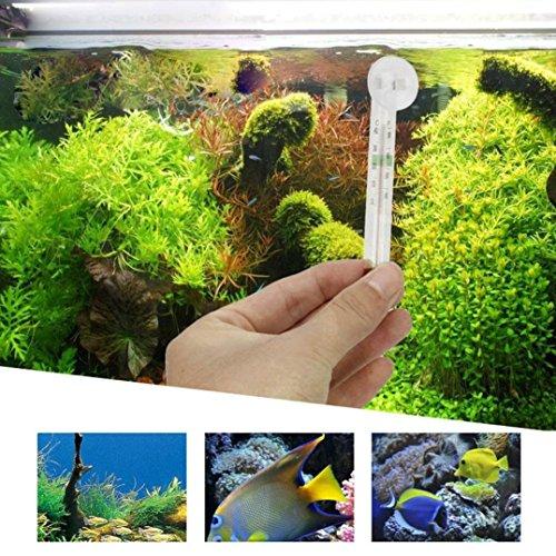 YRD TECH Upholstery Tech für Glas Meter Aquarium Fisch Tank Wasser Temperatur Thermometer Saugnapf Farblos