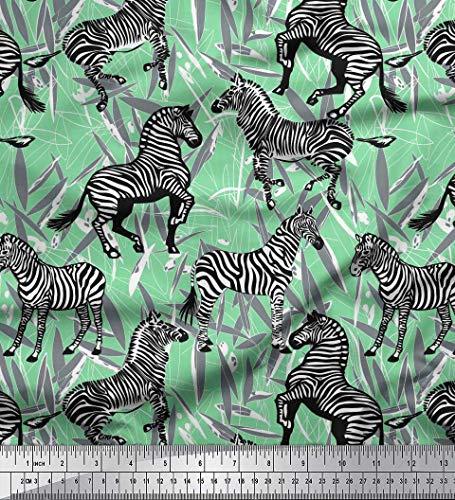 -Popeline Stoff Blätter, und Zebra Tier Stoff drucken Meter 42 Zoll breit ()