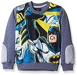 Batman Boys' Sweatshirt (BM1ESB719_DENIM BLUE GRINDLE_3/4)