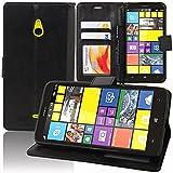 Nokia Lumia 1320: Cover Portafoglio regolabile per guardare videoo - Nero
