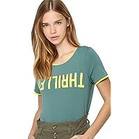 ONLY Women's Regular T-Shirt (2717422001_Blue Spruce_XS)