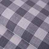 Hans-Textil-Shop Stoff Meterware Vichy Karo 1x1 cm Grau