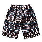 JiaMeng Bañador Hombre Chico Playa Verano Parejas Playa Floral Bohe Pantalones Cortos de natación Troncos Pantalones de níquel Talla Grande de natación Pantalones Cortos para Tabla