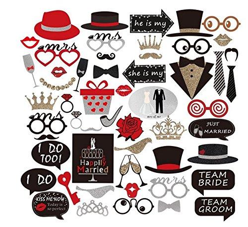 oto Booth Foto Booth Requisiten für Hochzeit Partei Dekorationen (Prom-dekoration-kits)