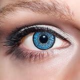 KwikSibs farbige Kontaktlinsen, hellblau, 2-farbig, weich, inklusive Behälter, BC 8.6 mm/DIA 14.0/+3,00 Dioptrien, 1er Pack (1 x 2 Stück)