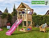 Spielturm Jungle House - Set mit Feuerwehrstange Sandkasten Kletterturm - Jungle Gym (inkl. Holzpaket)