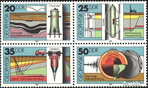Prophila Collection DDR 2557-2560 Viererblock (kompl.Ausg.) 1980 Geophysik (Briefmarken für Sammler)