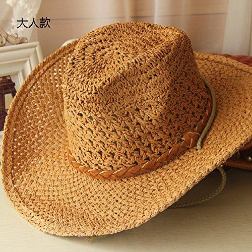 Chapeau de paille et des chapeaux de pêche pêcheur cap cap cap parents-enfants des couples cap beach parasol chapeau Stetson, M (56-58cm) kakis M (56-58cm) kakis
