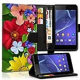 Book Style Alcatel One Touch Go Play 7048X Premium PU-Leder Tasche Flip Brieftasche Handy Hülle Kartenfächer mit Standfunktion für Alcatel One Touch Go Play 7048X - Design Flip MVX79