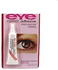 Stylazo Waterproof Eyelashes Makeup Adhesive Eye Lash Glue, 7g (Dark Tone)