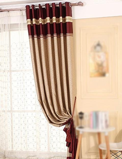 ZCJB Vorhänge Vorhang Blackout Vorhang Nach Maß Stoff Vorhang Wohnzimmer  Schlafzimmer Vorhang Ein Scheibe ( Farbe