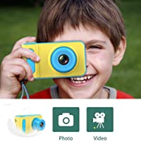 HALO NATION Kids Digital Camera Cute X1 1080P HD Video Action Camcorder with Loop Recording & Digital Photography & 2 inch Screen - Mini Multi-Functional Camera for Kids (Blue)