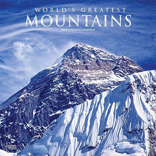 World's Greatest Mountains - Die höchsten Berge der Welt 2019 - 18-Monatskalender: Original BrownTrout-Kalender por Inc Browntrout Publishers