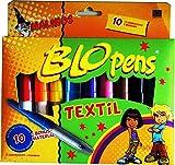 Blopens Textilstifte 10 Stifte 8 Schablonen Dinos für T-Shirts usw