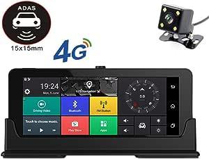 Rdjm Dash Cam Auto 1080p Vorne Und 720p Hinten Kamera Gps Armaturenbrett Autokamera Dashcam Mit Einparkhilfe Adas Sport Freizeit
