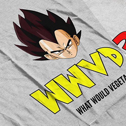 What Would Vegeta Do Dragon Ball Z Womens Sweatshirt Heather Grey