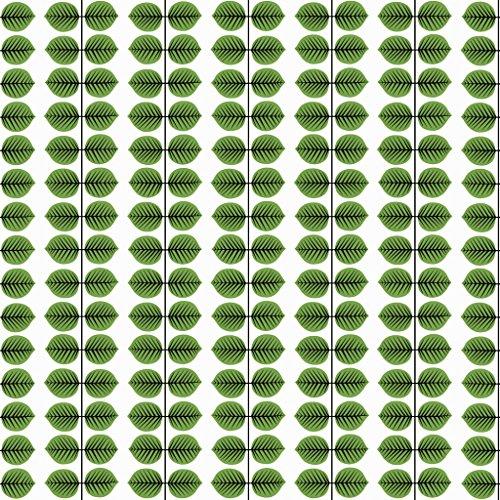 Stig Lindberg 1750 Vliestapete Blattranken formal geometrisch in grün und schwarz auf weiß