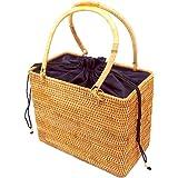 Miyanuby Damen Umhängetasche Rattan Handgemachte Vintage Tasche Handtaschen für Frauen Travel Strandtasche Sommer Umhängetasc