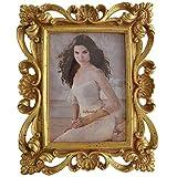 Giftgarden antiker 13x18 Bilderrahmen mit Barock-Stil golden Geschenke für Freunde