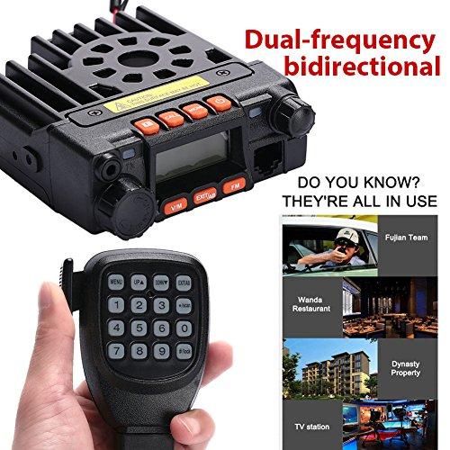 Sedeta Mobiler Fahrzeugtransceiver QYT KT-8900 Dual-Band VHF UHF Auto / Trunk Ham Handheld CB Zwei-Wege-Radios 25W schwarz (Mobil-kommunikation)