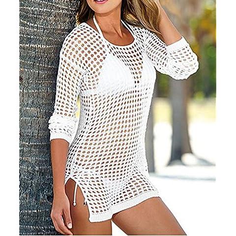 ETGtek(TM) Verano atractivo de las mujeres de punto de malla de ganchillo traje de baño de la playa cubre para arriba el vestido del traje de baño del bikini del abrigo -M