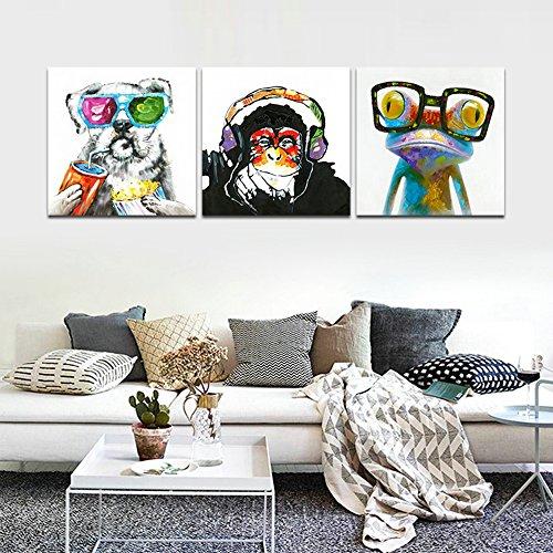 CrmOArt - 3 Panneau Abstrait Murale Art Mural - Musique...