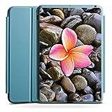 Apple iPad Mini 4 Smart Case hellblau Hülle Tasche mit Ständer Smart Cover Pink Kiesel Stein