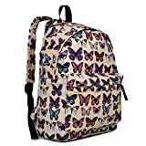 Butterfly Flower Polka Dot Retro Fashion Backpack Rucksack (Butterfly Beige)