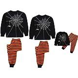 Pantalones BBSMLIN 1-12 A/ños Ni/ño Halloween Disfraz Conjunto de Pijama con Impresi/ón de Esqueleto