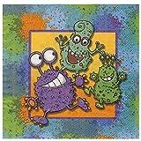 20 Servietten * MONSTER * für Kindergeburtstag // Kinder Geburtstag Party Karten Alien Glibber Napkin Papierservietten