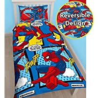 "NEW Spiderman Superhero REVERSIBLE Duvet Cover/Quilt Bedding Set Kids Boys Girls (Single, Spiderman ""Webhead"")"