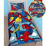 Nouveau Spiderman Housse de couette réversible/Parure de lit pour enfant Garçons Filles, Spiderman 'Webhead', Simple