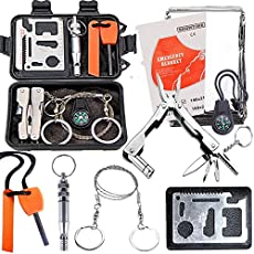 HITSAN Outdoor Sports SOS Emergency Survival Equipment Kit Tactical Hunting Tool
