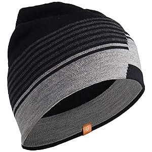 Icebreaker Erwachsene Mütze Coronet Hat, Black/Jet Hthr/Metro Hthr, One size, 100713