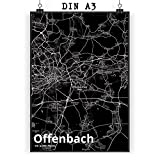 Mr. & Mrs. Panda Poster DIN A3 Stadt Offenbach Stadt Black