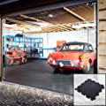 Interlocking Vinyl Floor Tiles Flooring Checkerplate Or Studded Surface 495 x 495mm Heavy Duty Gym Garage Schools Workshop