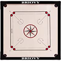 Briovy Carrom Board Medium Size 26 inches 100% Waterproof with Carrom Corner Protection, Coins, Striker and Powder…
