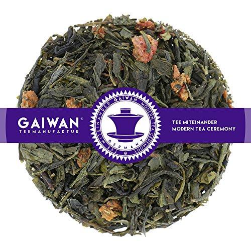 "Núm. 1329: Té verde""Mañana verde"" - hojas sueltas - 250 g - GAIWAN GERMANY - té verde de China, papaya y piña endulzadas, fresas"