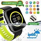 Bluetooth Smart Watch Armband,Fitness Tracker IP68 Swimproof Intelligente Sport Uhr mit Touch Bildschirm,Pulsmesser,Schrittzähler,Schlaf-Monitor,Anti-Lost Aktivitätstracker für Android und IOS