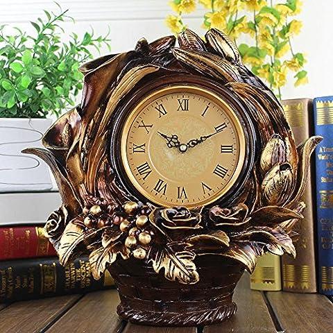 KHSKX Soggiorno orologi orologi muto resina contemporanea classica orologio cesto floreale personalità creativa orologi europei - Quarzo Contemporaneo Anello