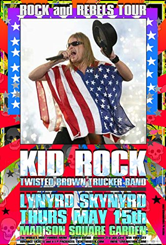 CARL LUNDGREN ART Kid Rock Poster New York City 201048,3x 33cm Bereit für Display, Lieferung Flach, Beutel und Bord von Grande Ballsaal Poster Künstler Carl Lundgren Bedruckt in Detroit Mi USA