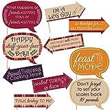 """Set di 10 divertenti cartelli scenici per la festa del """"Ringraziamici"""""""