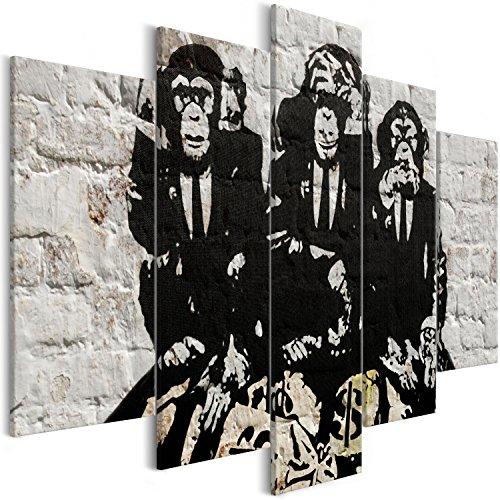 Murando   Cuadro Banksy Mono 200x100 cm   impresión