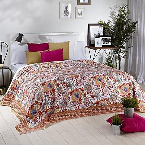 Sancarlos - Granfoulard multiusos estampado madurai blanco - para sofá o cama - -