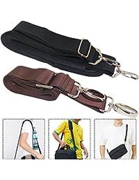 """AFUNTA 2 Paquetes Correas de Hombro de Reemplazo Universal, 57"""" 59"""" Correas de Bolsa Cinturones de Bolsos Ajustables para Funda de portátil Luggage Duffel Bag - Negro, Marrón"""
